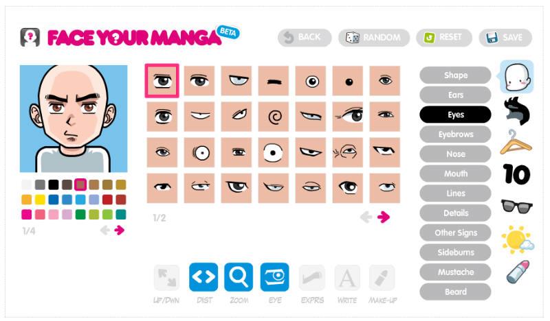 無料で簡単に自分の似顔絵が作れる「FACE YOUR MANGA」の簡単過ぎる使い方。